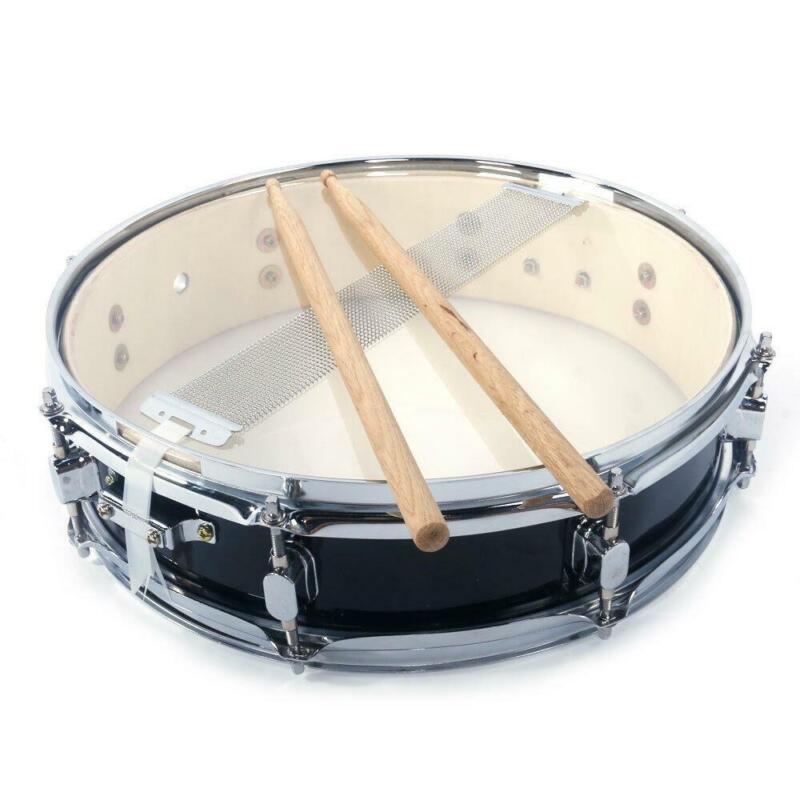 "New Piccolo Snare Drum 13"" x 3.5"" Poplar Wood & Metal Shell Percussion Black"