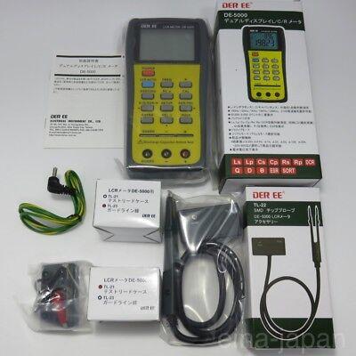 DER EE DE-5000 High Accuracy Handheld LCR Meter w/ TL-21 TL-22 TL-23