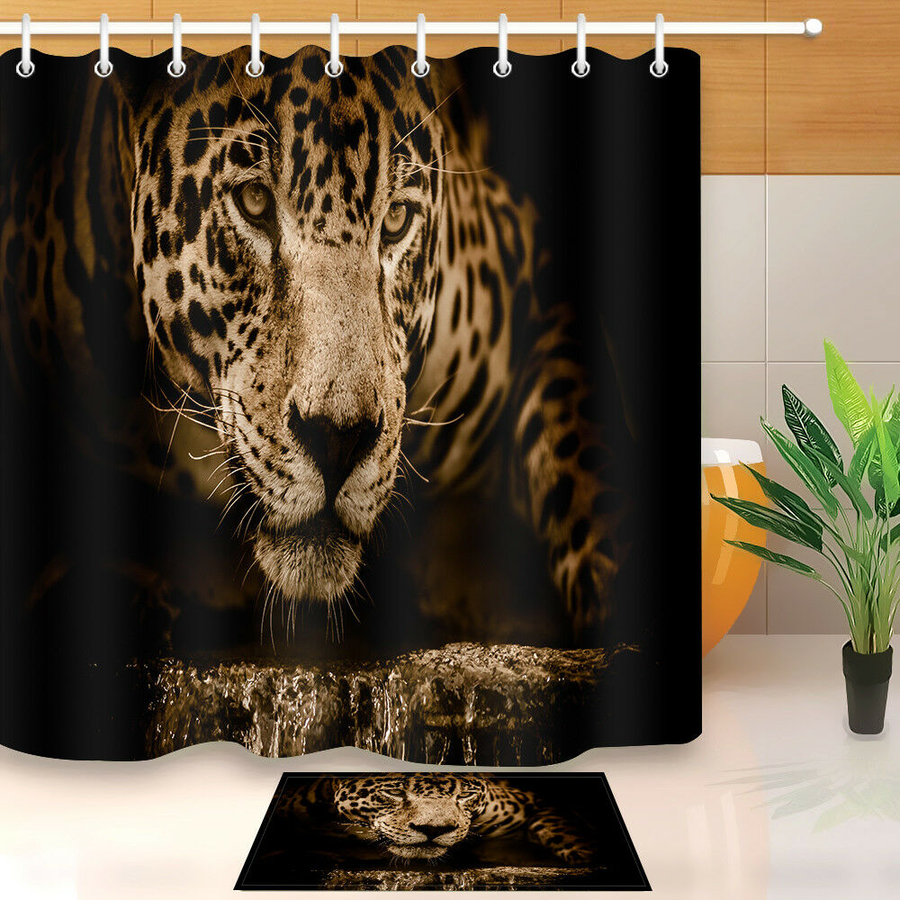 Hunting Leopard Shower Curtain Set