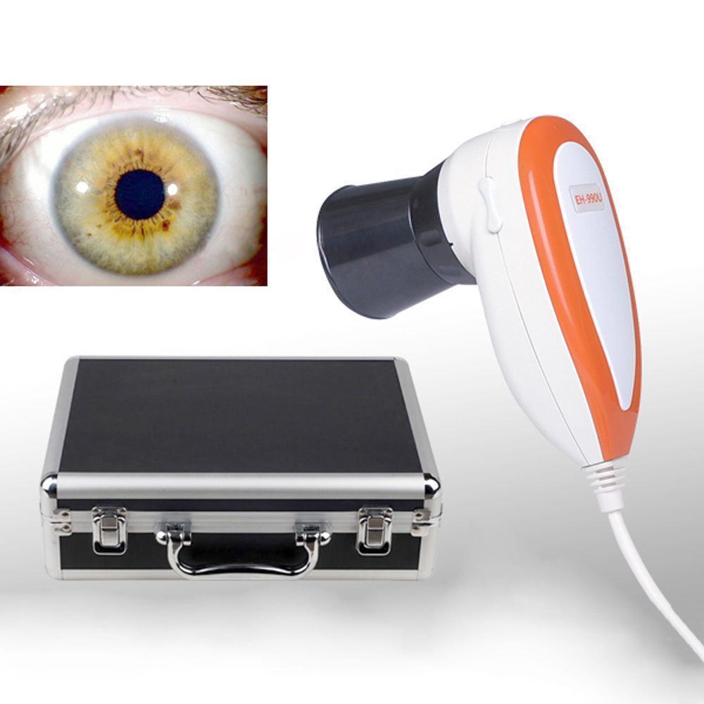 FDA 5.0 MP USB Iriscope Iris Analyzer Iridology camera + pro Iris Software 3D