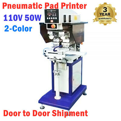 110v 50w 2-color Pneumatic Pad Printer With Sealed Ink Cup And Shuttle