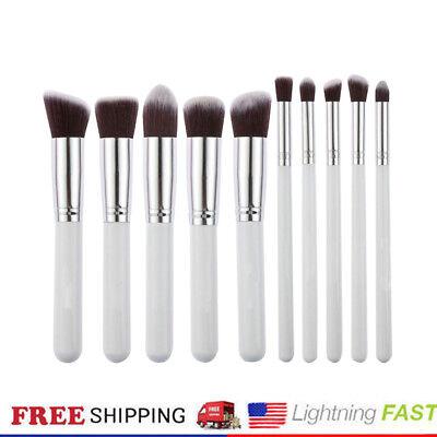 Pro 10pcs Makeup Cosmetic Blush Brush Foundation Eyebrow Powder Brushes Kit Set
