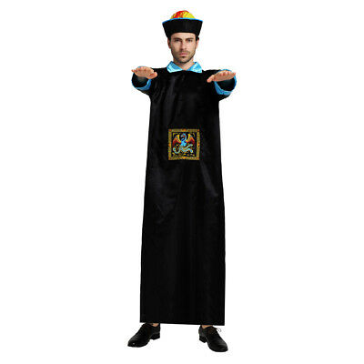 Chinese Style Mens Qing Dynasty Zombie Dress Up Costume Cosplay Halloween - Male Chinese Halloween Costumes