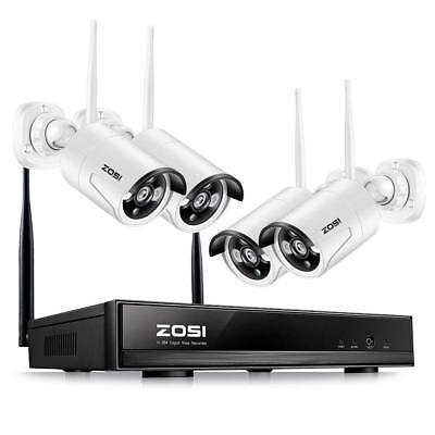 ZOSI 4CH 960P HD Funk Video Überwachungssystem WIFI WLAN Überwachungskamera