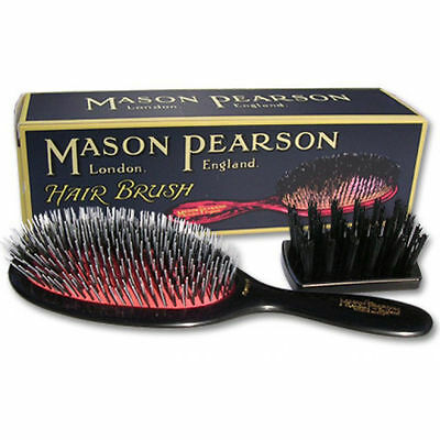 Mason Pearson Large Size BN1 Popular Bristle&Nylon Hairbrush – Dark Ruby