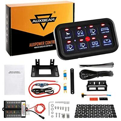 Auxbeam 8 Gang Switch Panel Automatic Dimmable Led On-off Car Electronic Relay