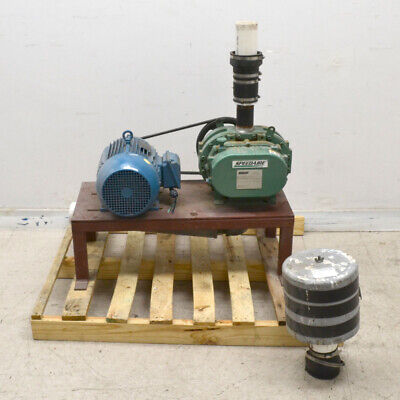 Speedaire Sa 5300h Positive Displacement Blowervacuum Pump W Motor - For Parts
