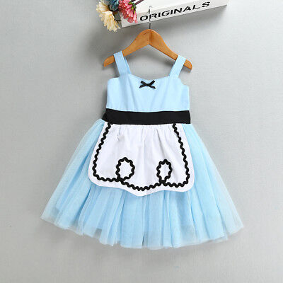 Alice in Wonderland Girl Princess Dress Toddler Kid Child Party Carnival Costume