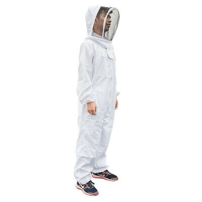Full Body Beekeeping Suit Ventilated Bee Farm Clothing With Veil Hood Size Xl