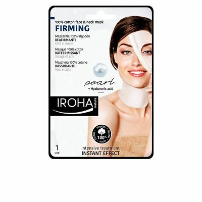 Iroha Nature Mask of Cotton for Face and Neck Pearl-Firming 30ml