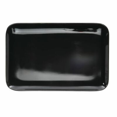 Serving Tray Display Tray Low Profile Black Melamine Plastic - 13 1/4 L x 9 1/8 - Melamine Display Tray