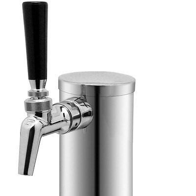 Single Tap Draft Beer Tower - Stainless Steel - With Perlick Perl 630ss Faucet