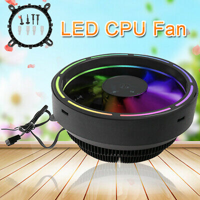 3Pin LED Computer CPU Fan For LGA1156/1155/1151/1150/775 AMD4/AM3+/AM2/FM2+