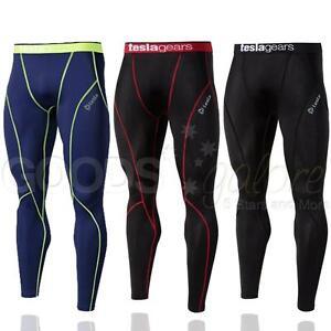mens sports pants compression base layer leggings gym. Black Bedroom Furniture Sets. Home Design Ideas