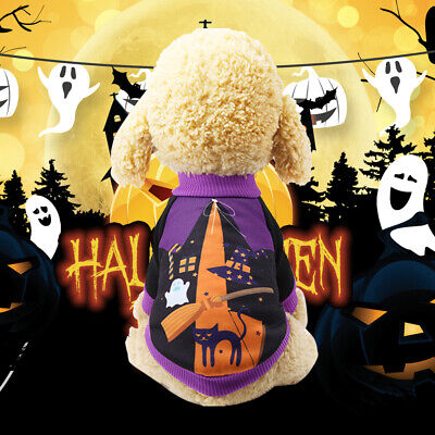 US STOCK Pet Dog Pumpkin Suit Halloween Costume Party Clothes For Puppy Cat](Pumpkin Dog Costumes)