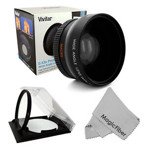 Wide Angle Lens 0.43x 58MM for Canon Rebel 1100D 1000D T3 T3i 60D 7D 350D XSi