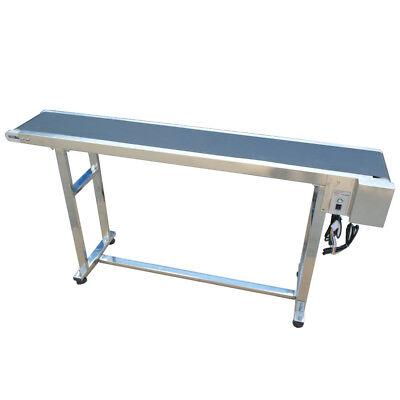 No Guardrail - Industrial Belt Conveyor 110v Metal Body Pvc Conveyor Belt New