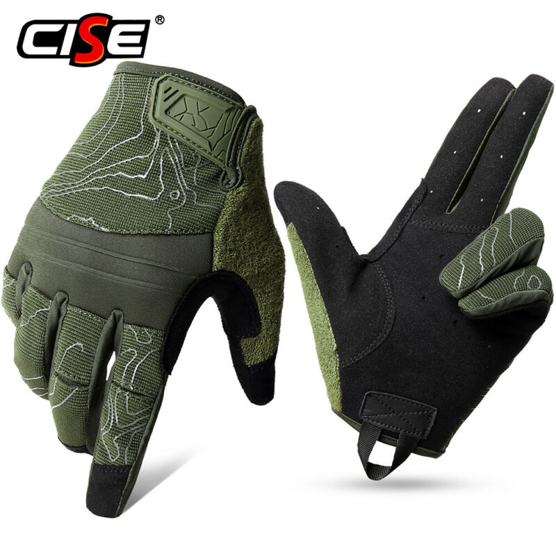 US Army Military Tactical Combat Hunting Shooting Touchscreen Full Finger Gloves
