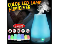 LED electrical aromatherapy oils air diffuser. 7 changing lights or can be set to one colour