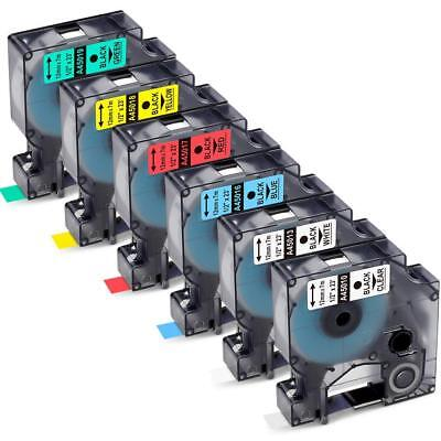Replace Dymo D1 Label Maker Tapes 450 Label Manager 12mm 12 6pk Cassette