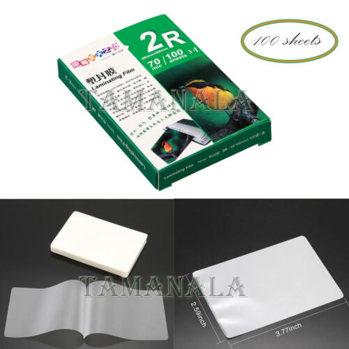 """3"""" Clear Photo Paper Laminating Film 70 mic100 Sheets Office"""