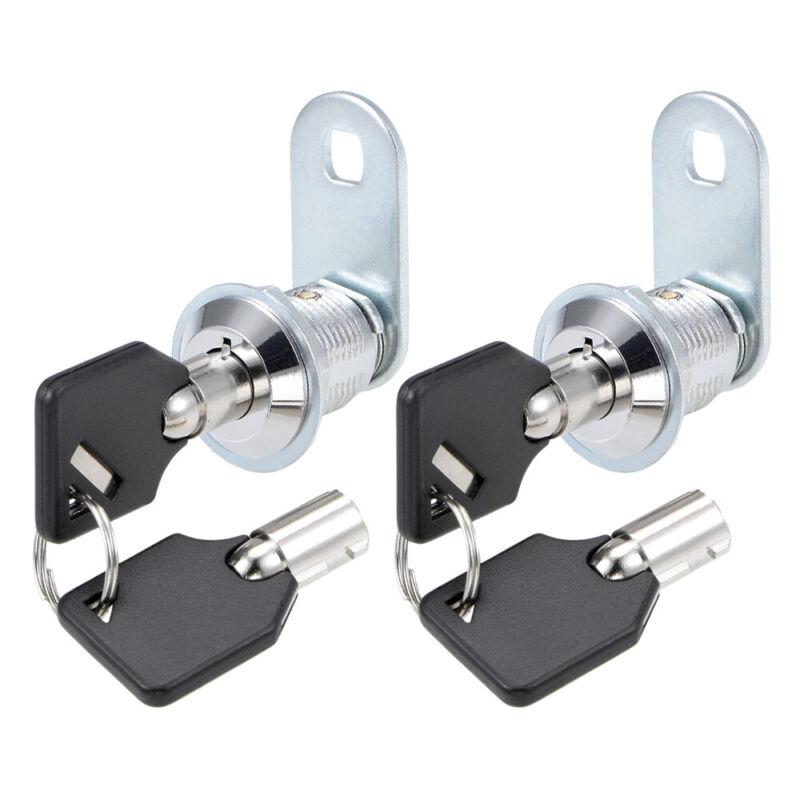 "2 Keyed Alike Tubular Cam Lock 5/8"" for RV, Camper Drawer Toolbox Non-retaining"
