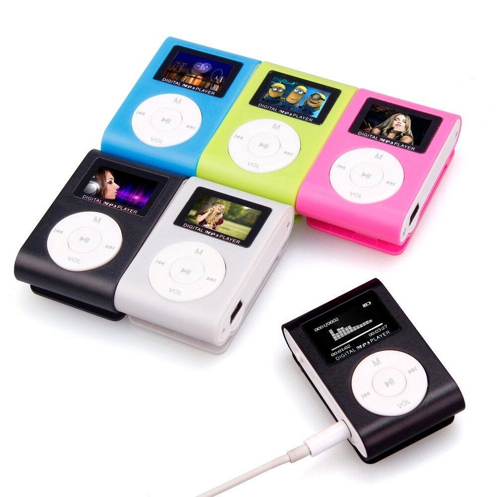 MP3 LETTORE MUSICALE CON SCHERMO DIGITALE LCD MINI CLIP SUPPORTA SD 32GB