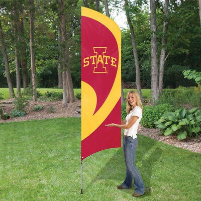 Iowa State Applique (IOWA STATE CYCLONES 8.5 FOOT TALL TEAM FLAG 11.5' POLE SIGN BANNER APPLIQUE)