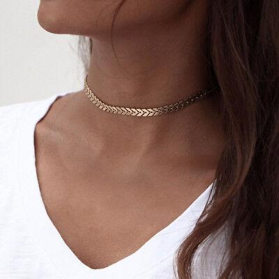 Böhmen Sequins Choker Halsband Fisch-Knochen-Halskette Statement Lätzchen