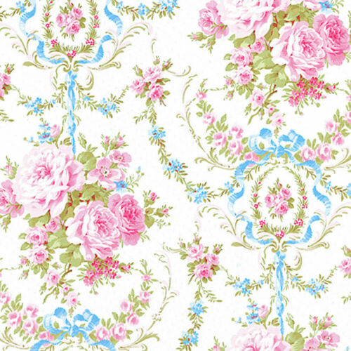 COTTON DUVET COVER BEDSPREAD FABRIC ANTIQUE FLORAL ROSE DAMA