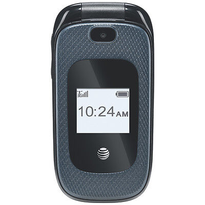 New AT&T ZTE Go Phone Z222 Unlocked GSM Bluetooth with Camera Stylish Flip Phone on Rummage