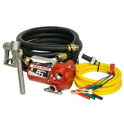 Fill-rite 12-v 12 Gpm 16hp Portable Fuel Transfer Pump Wstandart Accesories