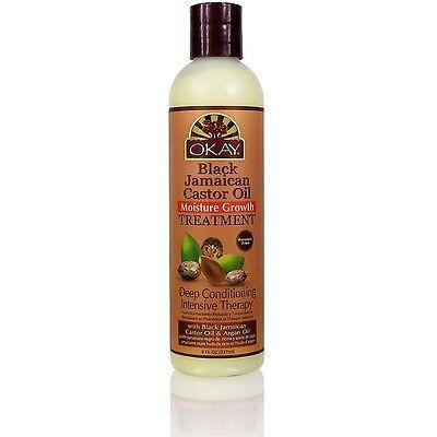 Okay Black Jamaican Castor Oil Moisture Growth Treatment 8 Oz
