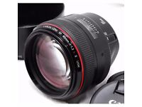 WANTED WANTED WANTED WANTED WANTED CANON 85MM OR 50MM 1.2L CAMERA LENS CASH WAITING WANTED WANTED