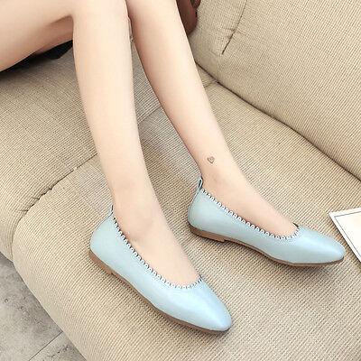 Women Fashion Point Toe Soft Casual Leisure Flats Female Footwear Ballet Shoes
