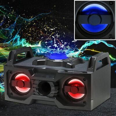 Altavoz Estéreo Equipo de Música Bluetooth USB Radio LED Cambio Iluminación
