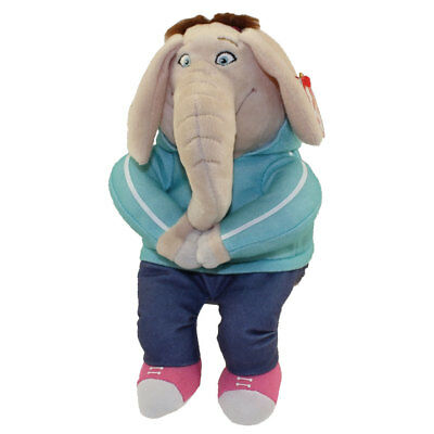"TY Beanie Baby 6"" MEENA the Elephant (Sing) Plush Stuffed Animal w/ Heart Tags"