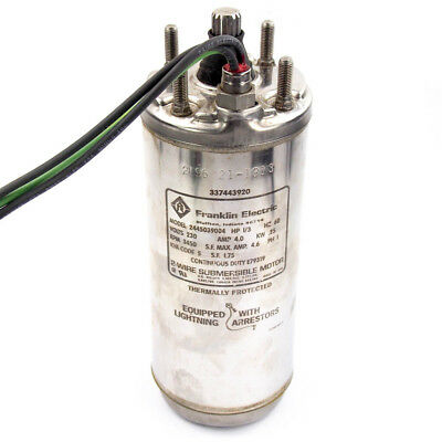 Franklin Electric 2445039004 Deep Well Submersible Pump Motor 13 Hp 4 230v