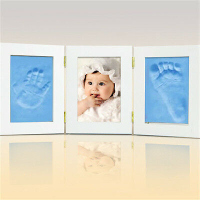 2Pcs Soft Baby Care Air Drying Clay Baby Handprint Footprint Imprint Kit Casting