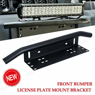 23 inch Car Front Bumper License Plate Bull Bar Mount Bracket For LED Light Bar