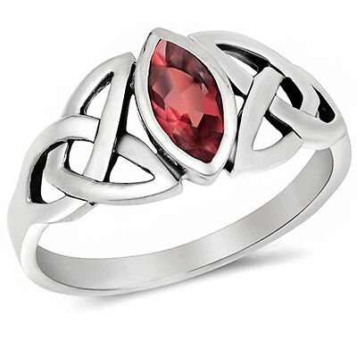 - Celtic Design Ruby .925 Sterling Silver Ring Sizes 4-11
