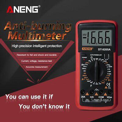 Digital Multimeter Voltmeter Ohmmeter Acdc Ammeter Capacitance Tester Dt9205a