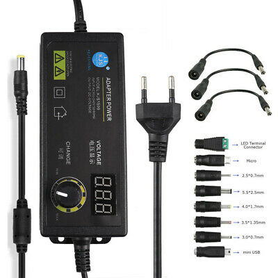 Adjustable Voltage 3v To 24v Power Supply Adapter Ac Dc Switch With Led Display
