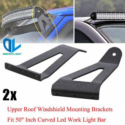 Roof light barebay 1 windshield roof led work light bar mounting brackets for ford f150 curved 50in mozeypictures Gallery