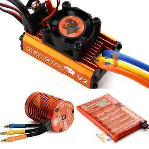 SkyRC Leopard 60A ESC 9T 4370KV Brushless Motor Toro Program Card Combo 1/10 RC