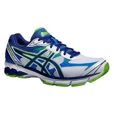 Asics Gel Stratus White / Navy / Flash Green Trainers Running Shoes UK  11 - 13