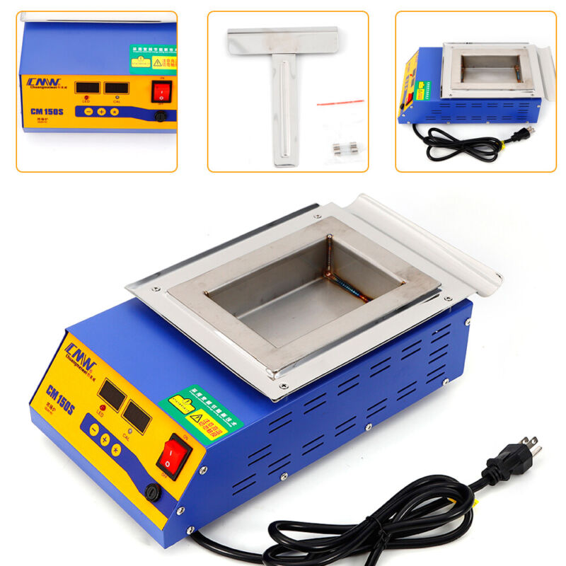 900W SGS Lead-free Titanium Solder Pot Molten Tin Furnace Digital Display 400°C