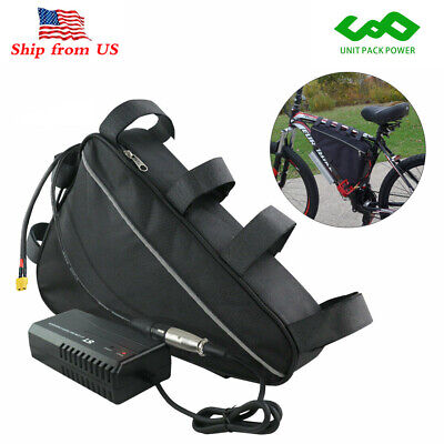 48V 20Ah Max 1500W Triangle Lithium ion Pack Electric Bike Ebike Battery+Charger