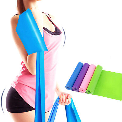1.5m Elastic Yoga Pilates Rubber Stretch Resistance Exercise Fitness Band