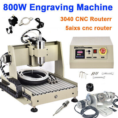 Usb 5 Axis 3040 Cnc Router Engraver 800w Vfd Drilling Milling Engraving Machine